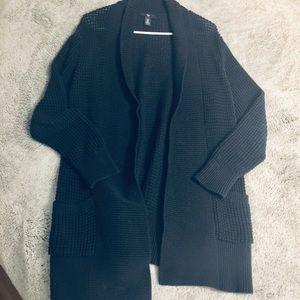 GAP navy blue chunky knit cardigan